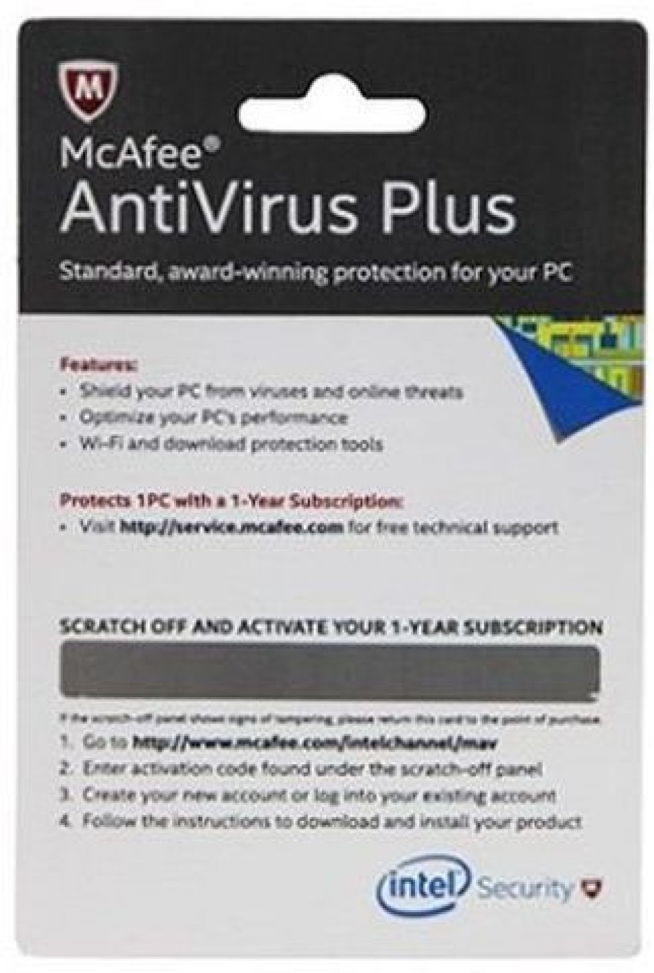 McAfee Antivirus Plus 2019 1 Year 1 Device (Download)