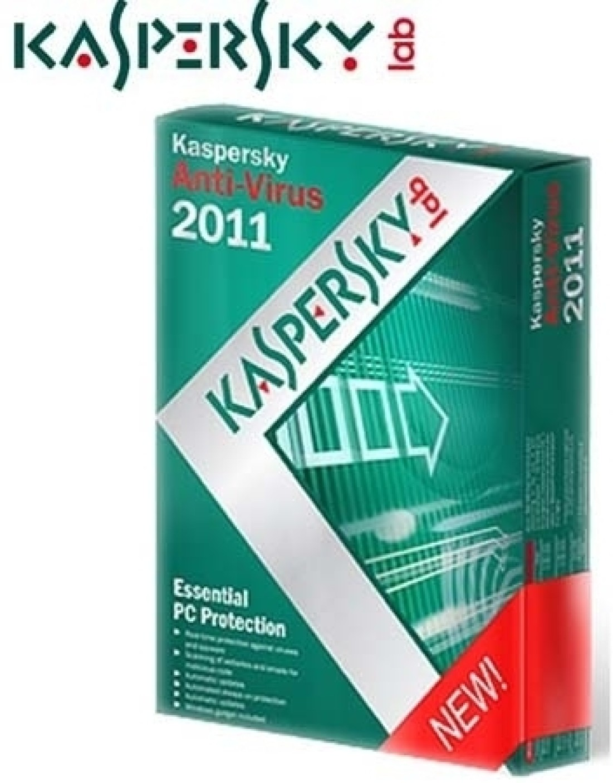Kaspersky Anti Virus 2011 3 PC 1 Year