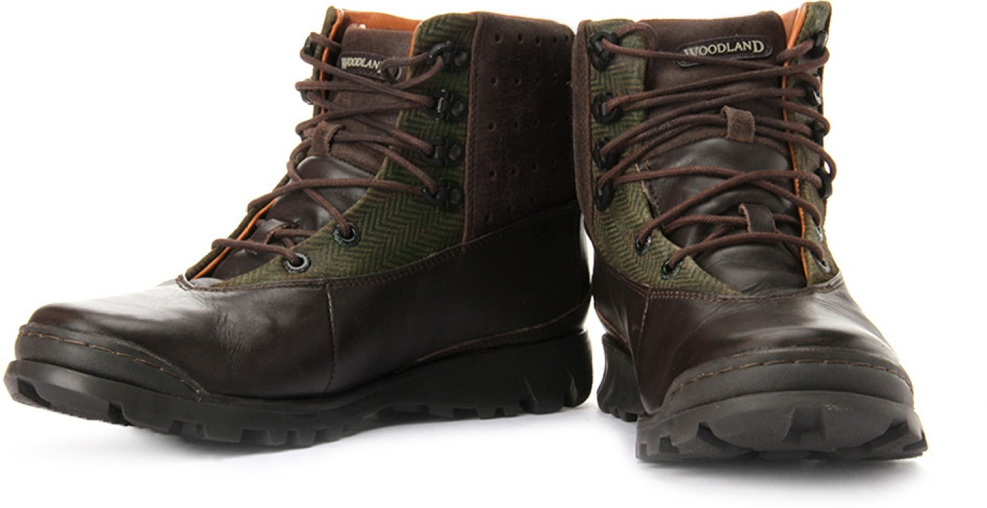 Woodland Boots For Men - Buy Dark Brown Color Woodland ...