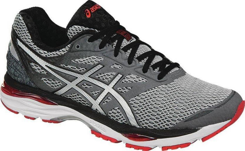 Asics Men S Gel Cumulus  Running Shoe White Silver Black
