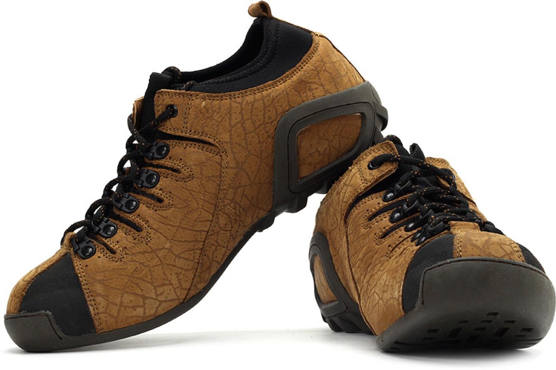 Woodland Outdoor Sneakers For Men (Black, Grey, Tan)