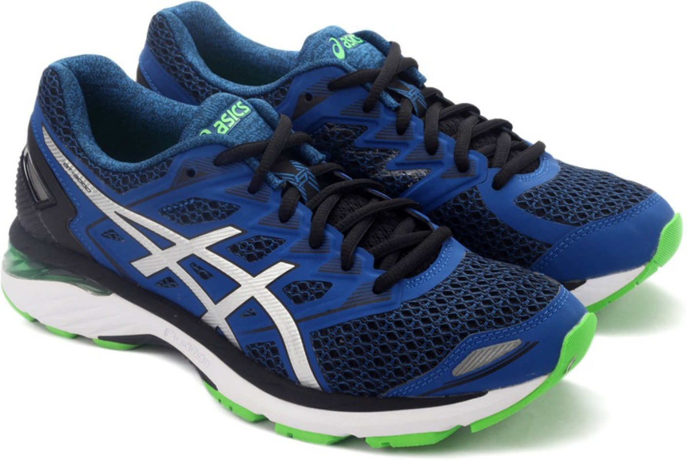 asics gt 3000 5 sports shoe for men buy black silver. Black Bedroom Furniture Sets. Home Design Ideas