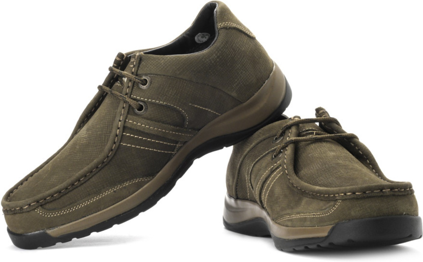 Woodland Outdoor Shoes For Men - Buy Olive Green Color ...