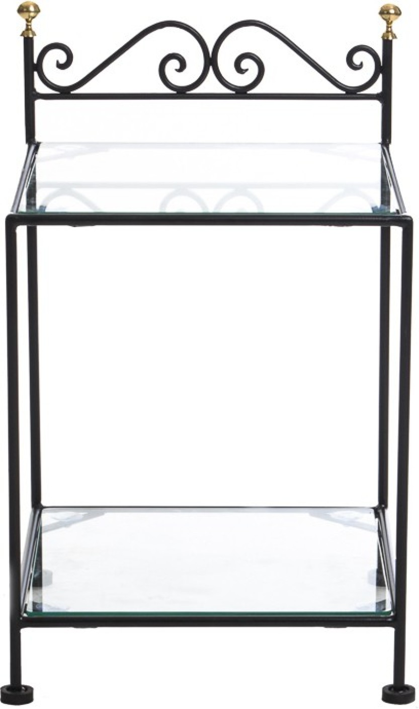 Black Metal Bedside Tables: Irony Furniture Metal Bedside Table Price In India