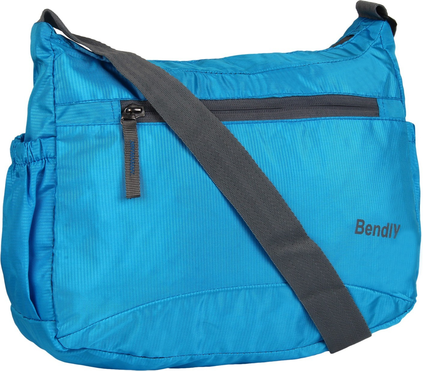 Gym Bag Flipkart: Bendly Men Casual Blue Polyester Sling Bag Blue-01