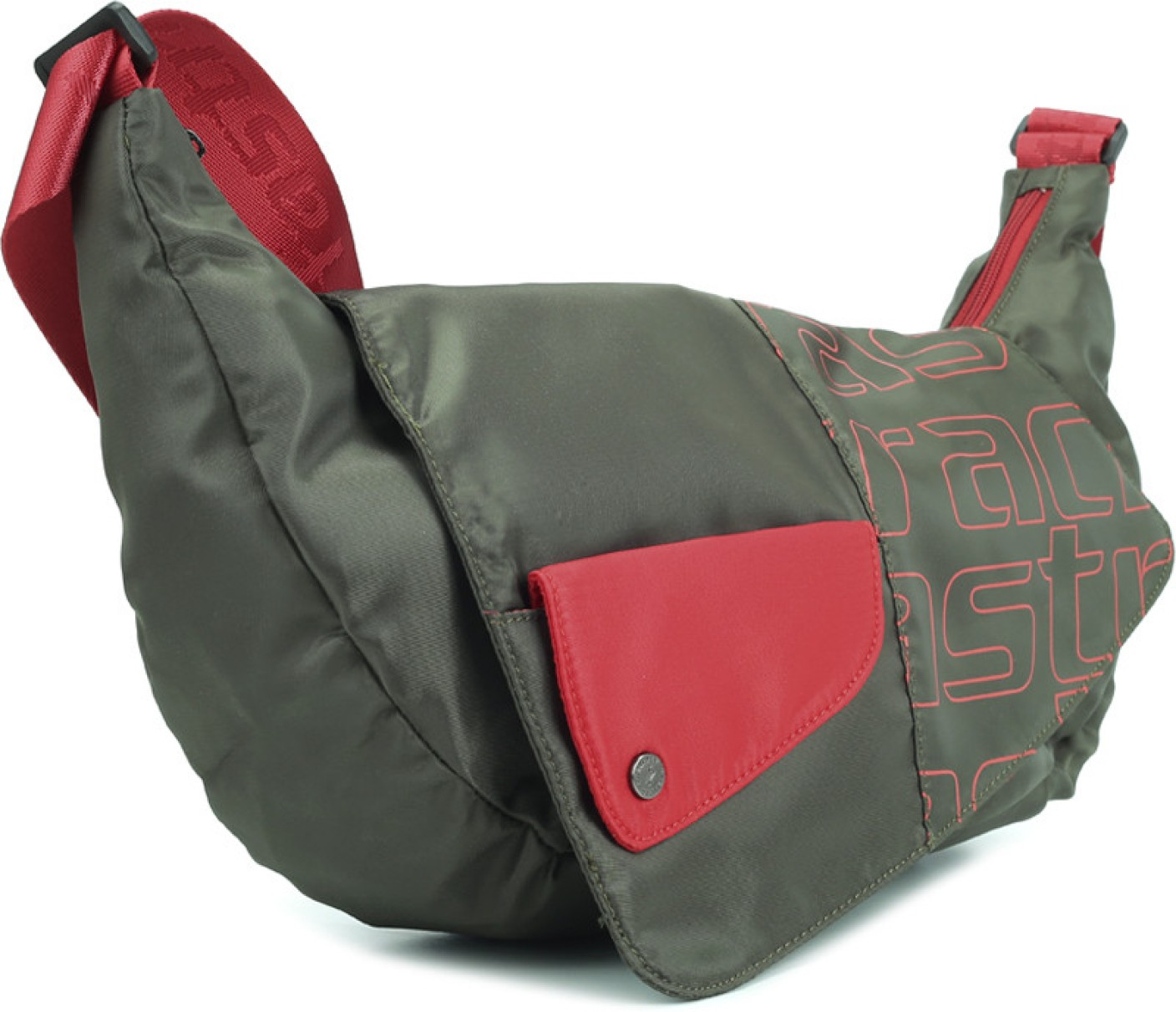 Fastrack Women Casual Green, Red Polyester Sling Bag Olive ...
