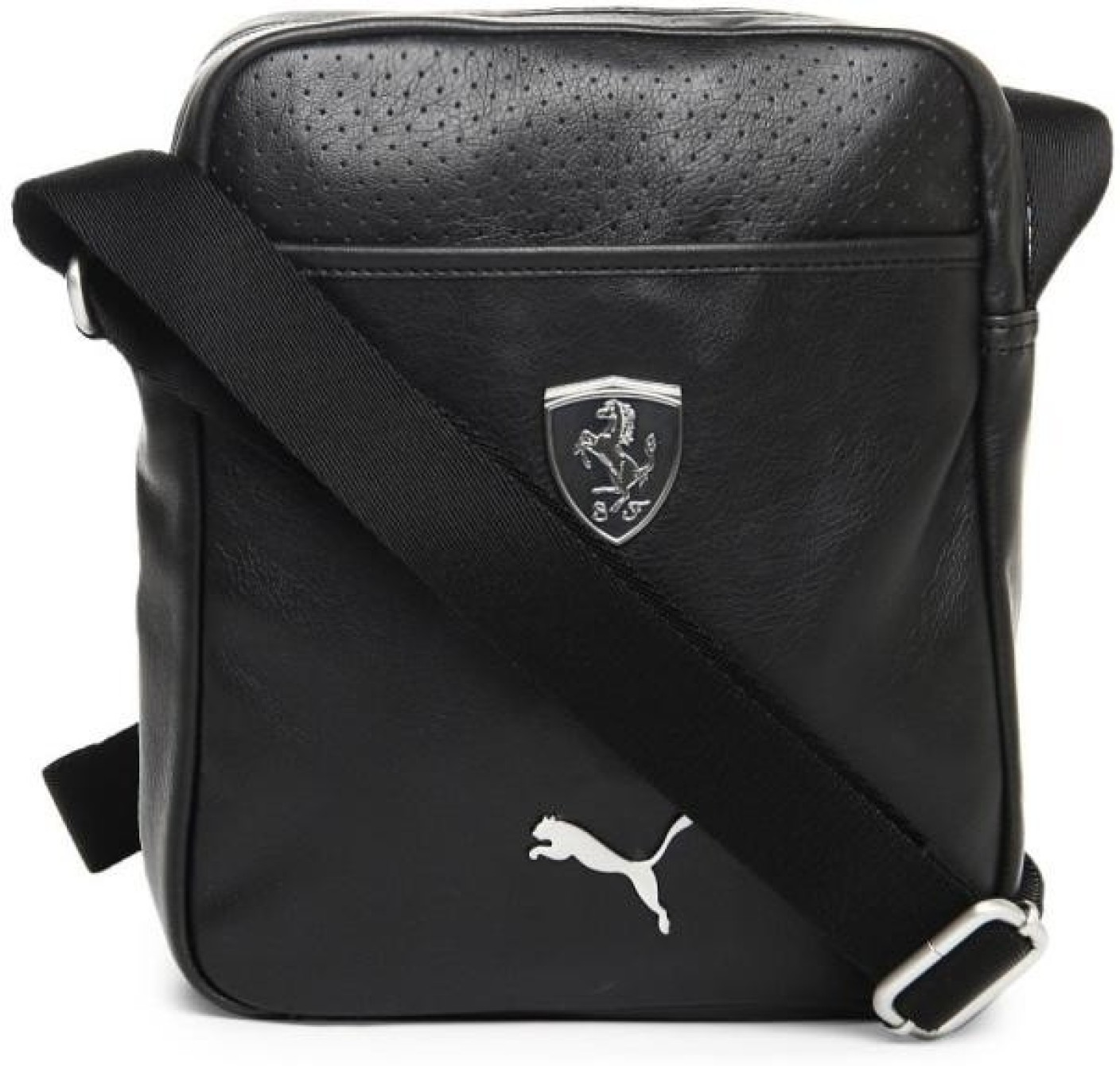 Gym Bag Flipkart: Puma Men & Women Casual Black PU Sling Bag Black