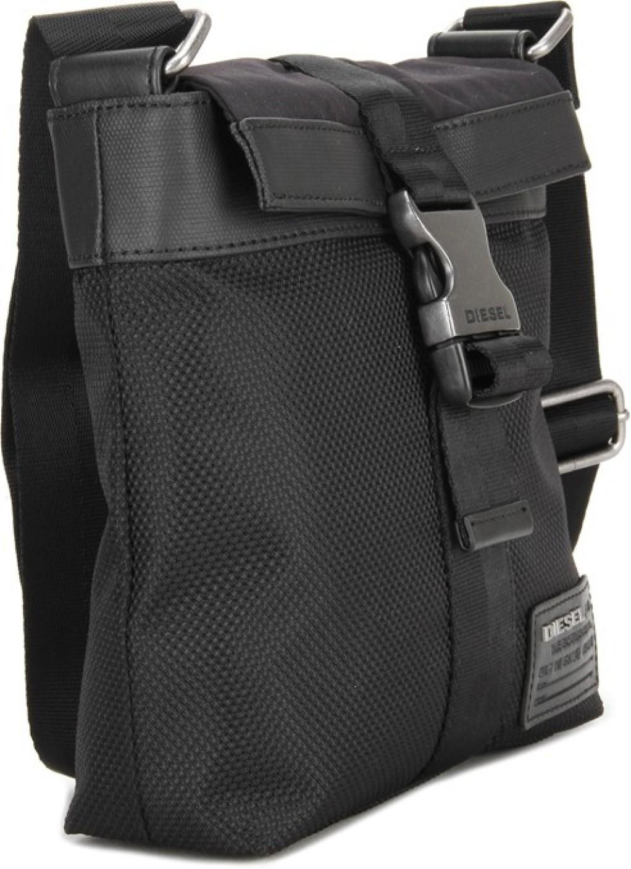 Diesel Men & Women Black PU, Polyester Sling Bag H1669 - Price in ...