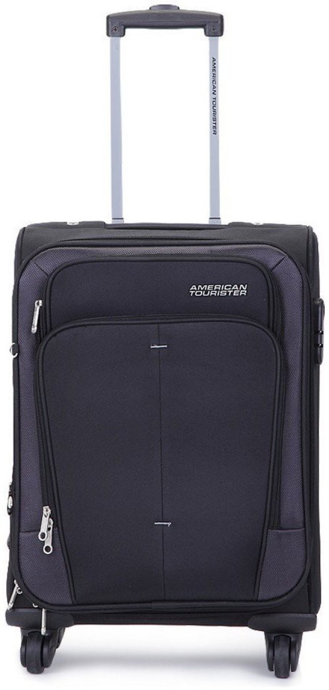 american tourister crete expandable cabin luggage 21 inch black price in india. Black Bedroom Furniture Sets. Home Design Ideas