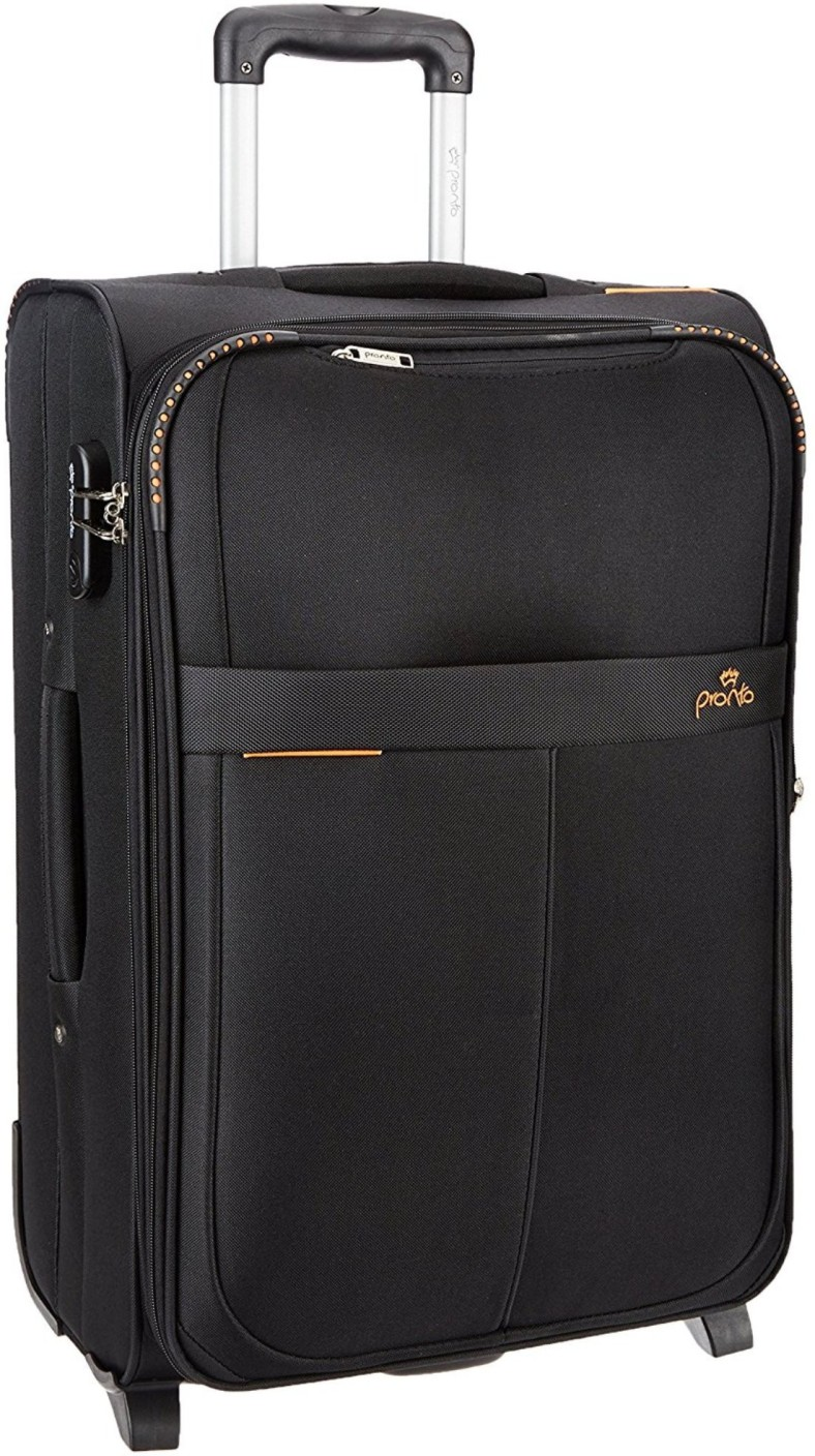 Pronto Oxford Expandable Cabin Luggage 20 Inch Black