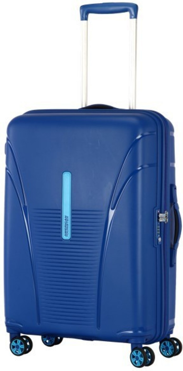 american tourister skytracer cabin luggage 22 inch highline blue price in india. Black Bedroom Furniture Sets. Home Design Ideas