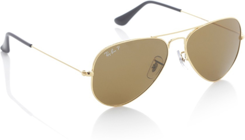 Buy Ray-Ban Aviator Sunglasses Brown For Men Online @ Best