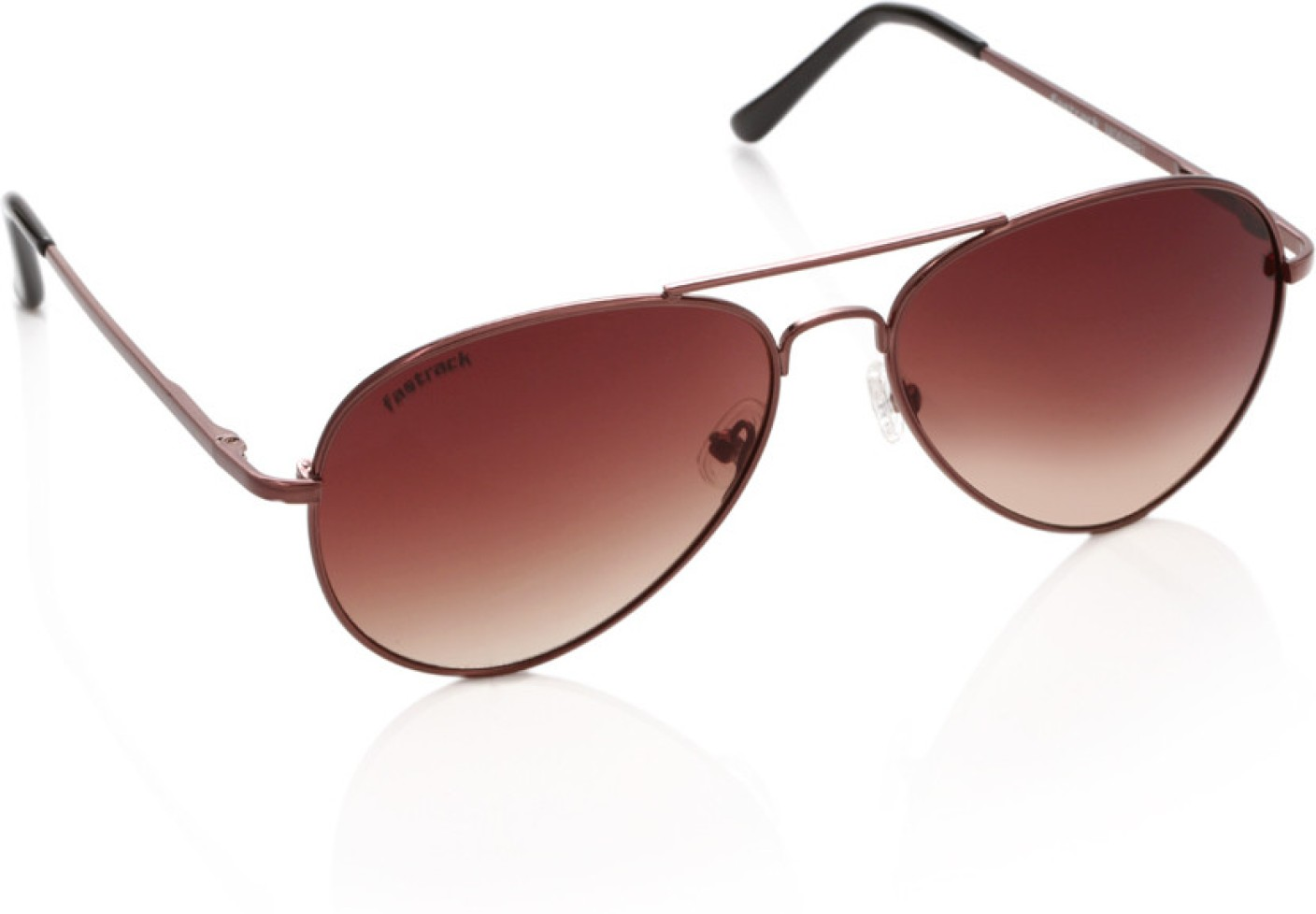 3bbc5a9baccb Buy Fastrack Aviator Sunglasses Brown For Men   Women Online   Best Prices  in India