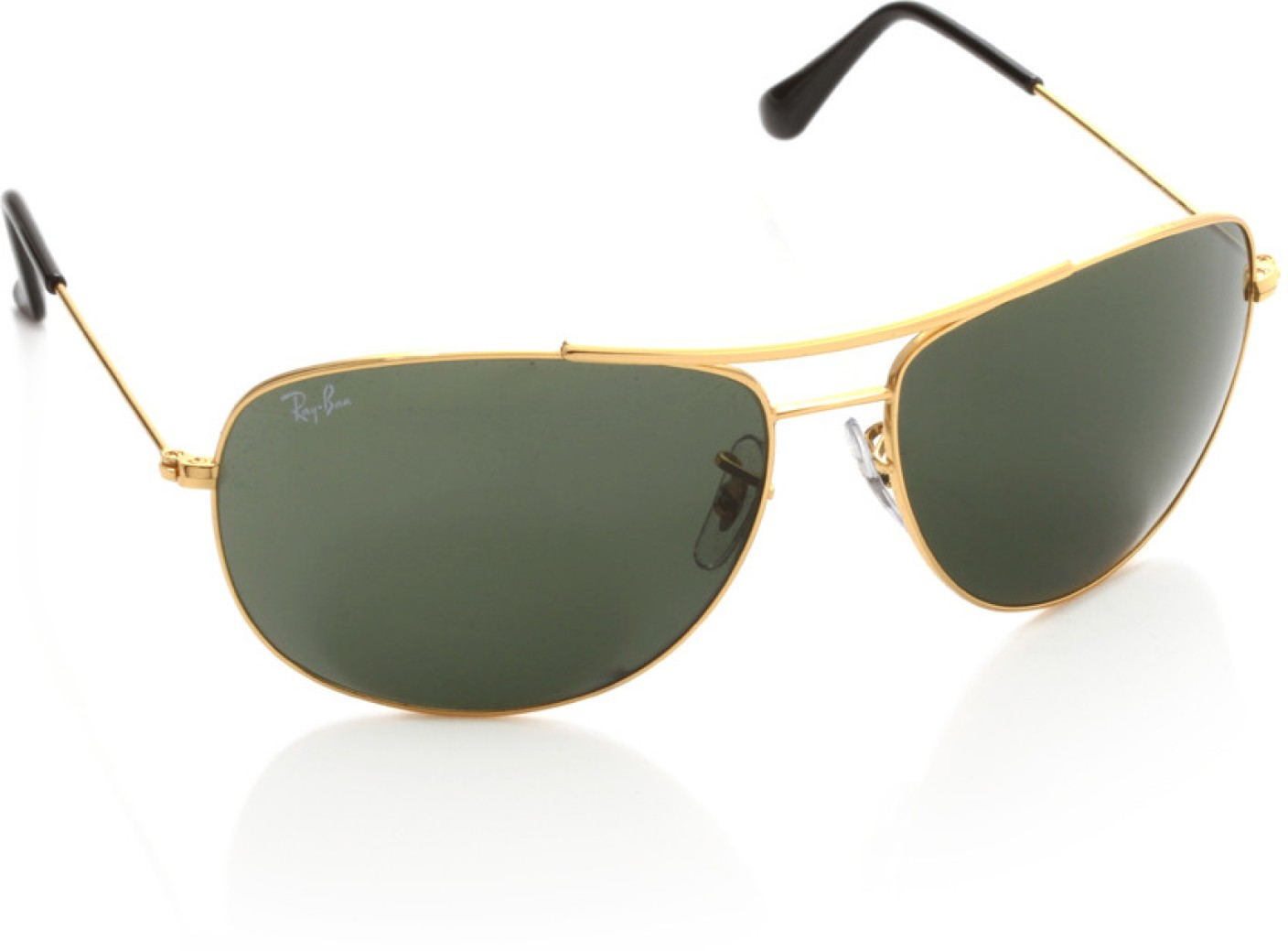 Buy Ray-Ban Oval Sunglasses Green For Men Online @ Best