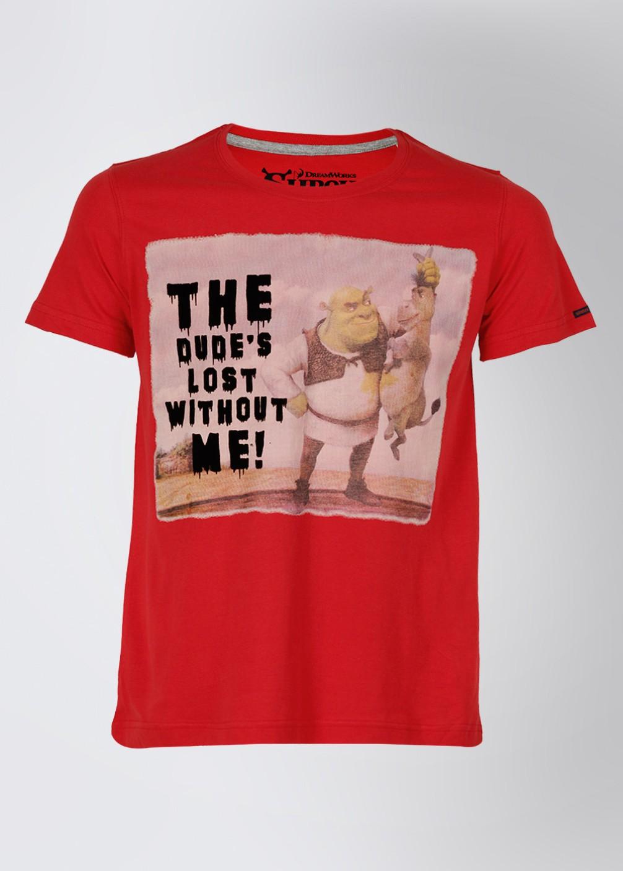 Shrek Printed Men 39 S Round Neck Red T Shirt Buy Red Shrek
