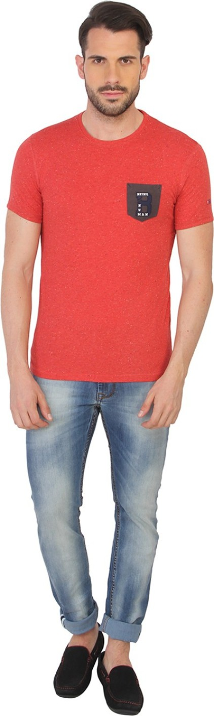 Being human printed men 39 s round neck red t shirt buy red for Being human t shirts buy online india