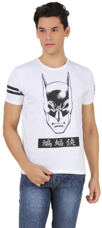 Black t shirt on flipkart - Batman Printed Men S Round Neck White T Shirt