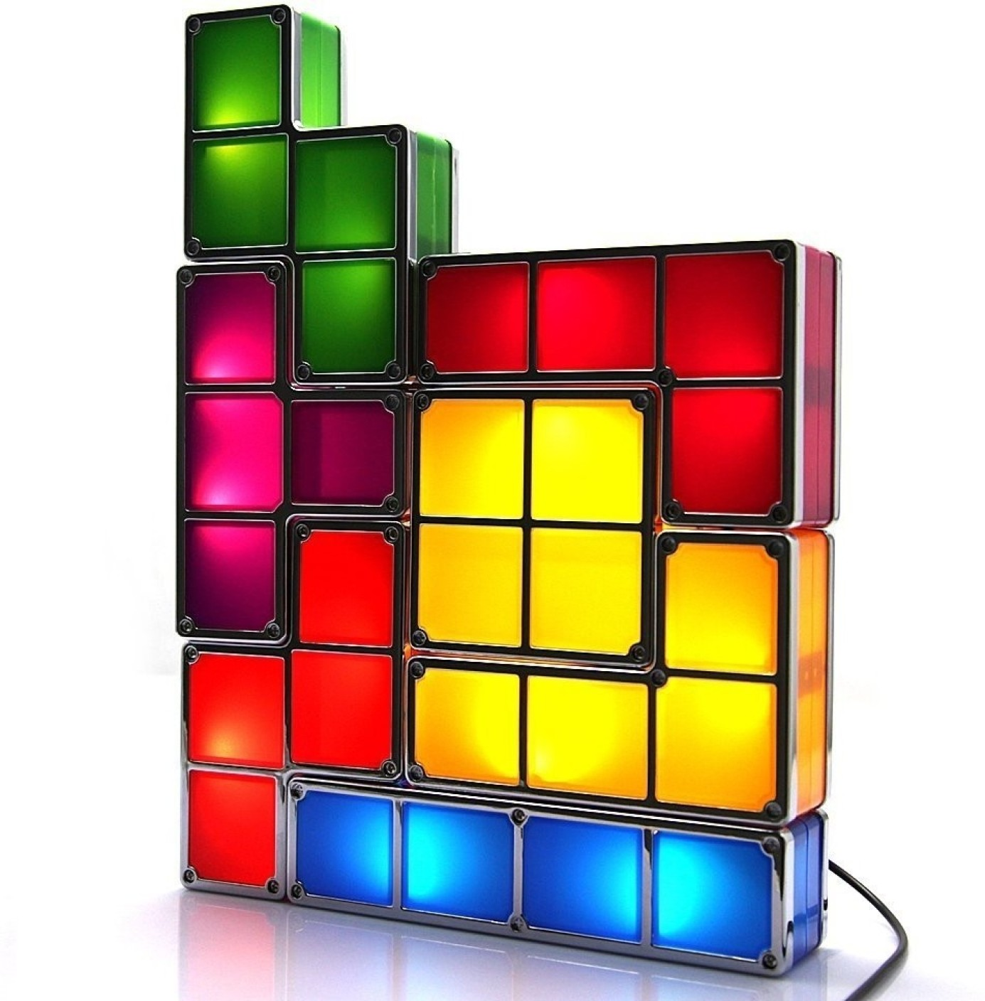 Excluzy Tetris Stackable Night Table Lamp. ON OFFER - Excluzy Tetris Stackable Night Table Lamp Price In India - Buy