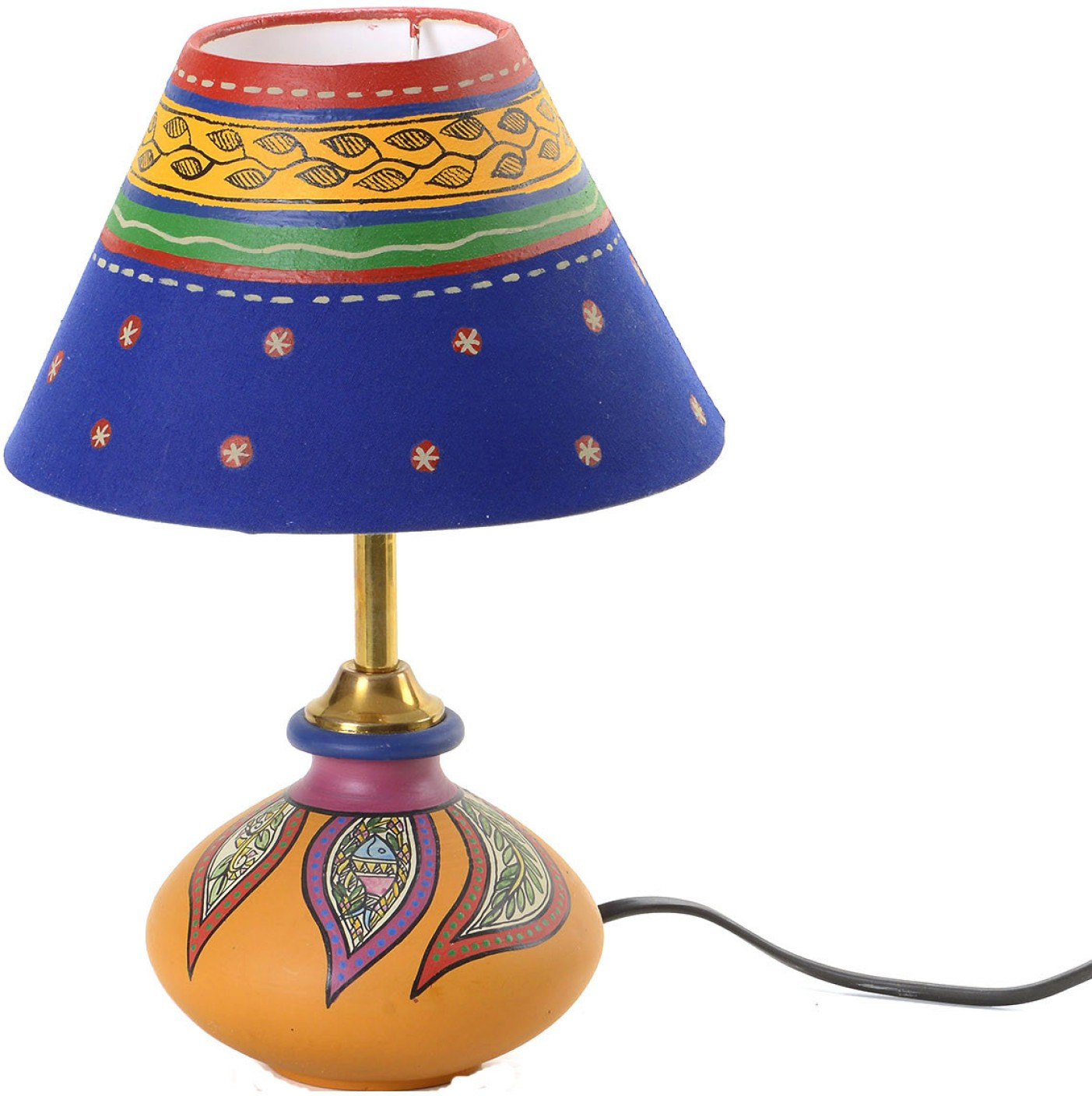 Aapno rajasthan handcrafted terracotta shade table lamp for Table lamp flipkart