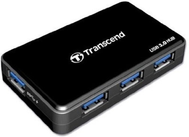 Transcend Super Fast Speed USB 3.0 4 Port USB 3 Hub with ...