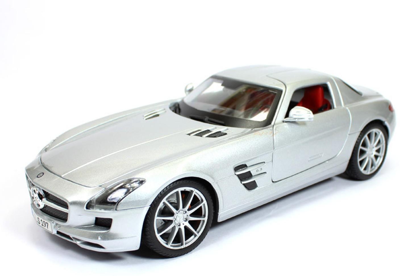 maisto mercedes benz sls amg silver 1 18 by maisto diecast scale model car mercedes benz sls. Black Bedroom Furniture Sets. Home Design Ideas