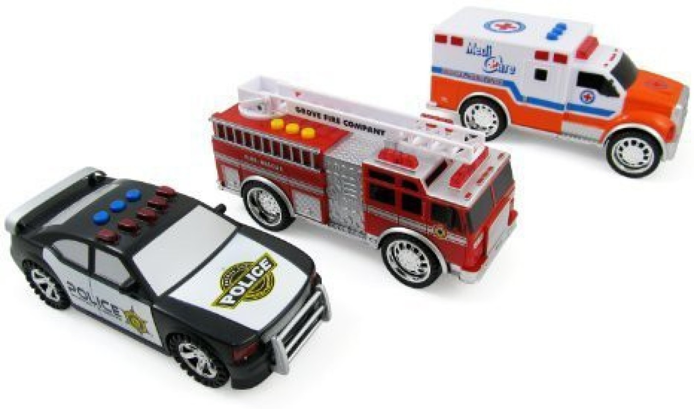 Liberty Imports 3 In 1 Emergency Vehicle Toy Playset For