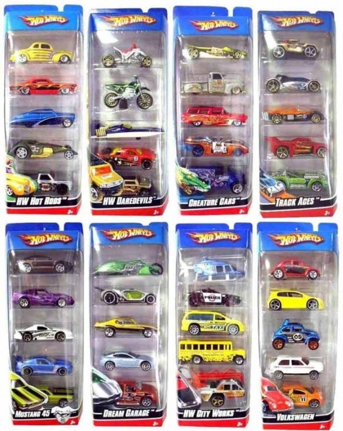 Hot Wheels Five Car Gift Pack Assortment - Five Car Gift Pack ...