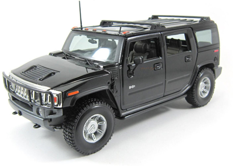 Maisto 2003 hummer h2 suv black 118 by diecast scale model car share vanachro Gallery