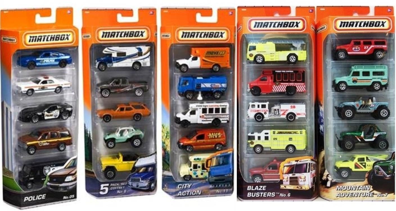 Matchbox 5 Car Pack Assortment  Diecast Model Cars  64