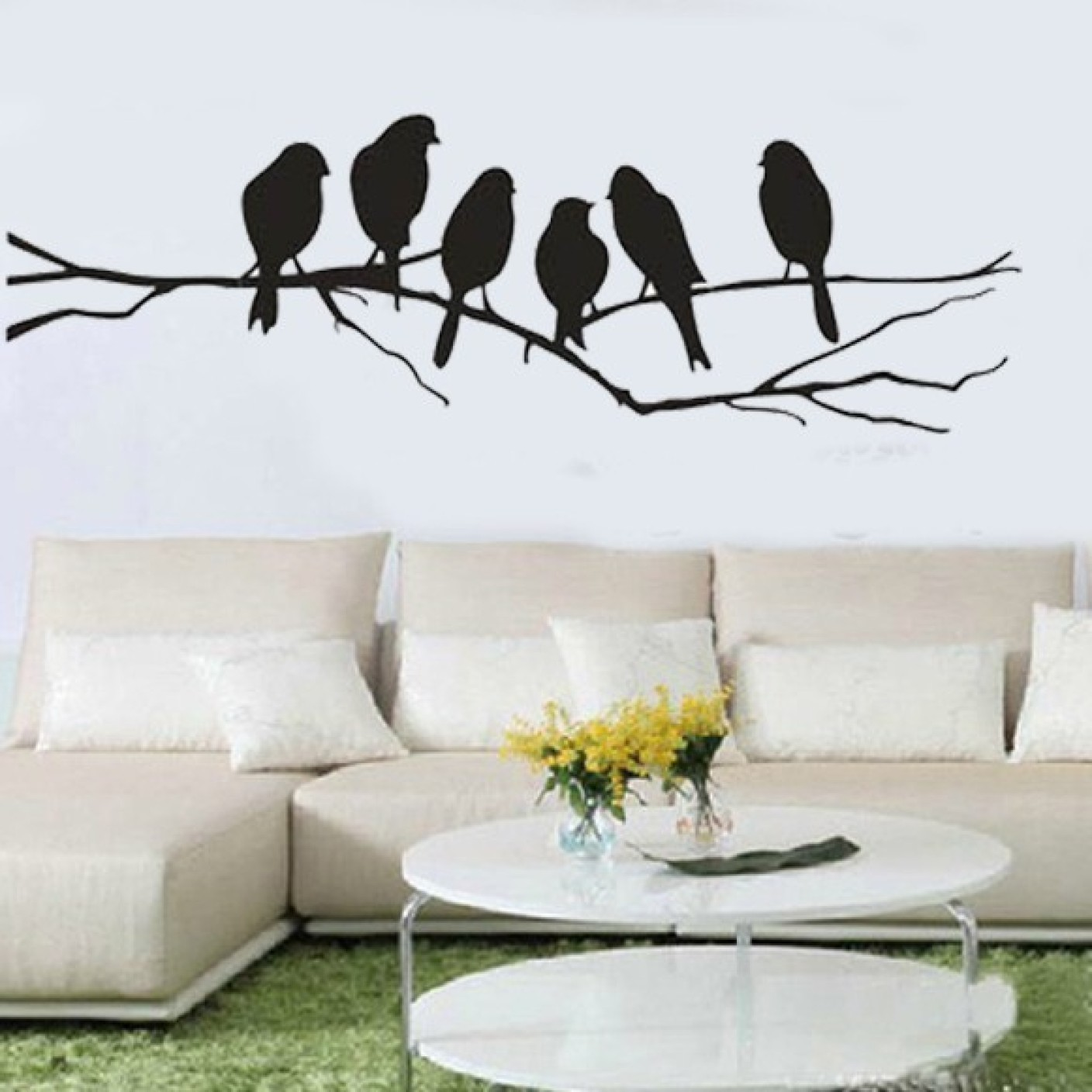 Happy walls birds on a branch silhouette art price in india buy on offer amipublicfo Image collections