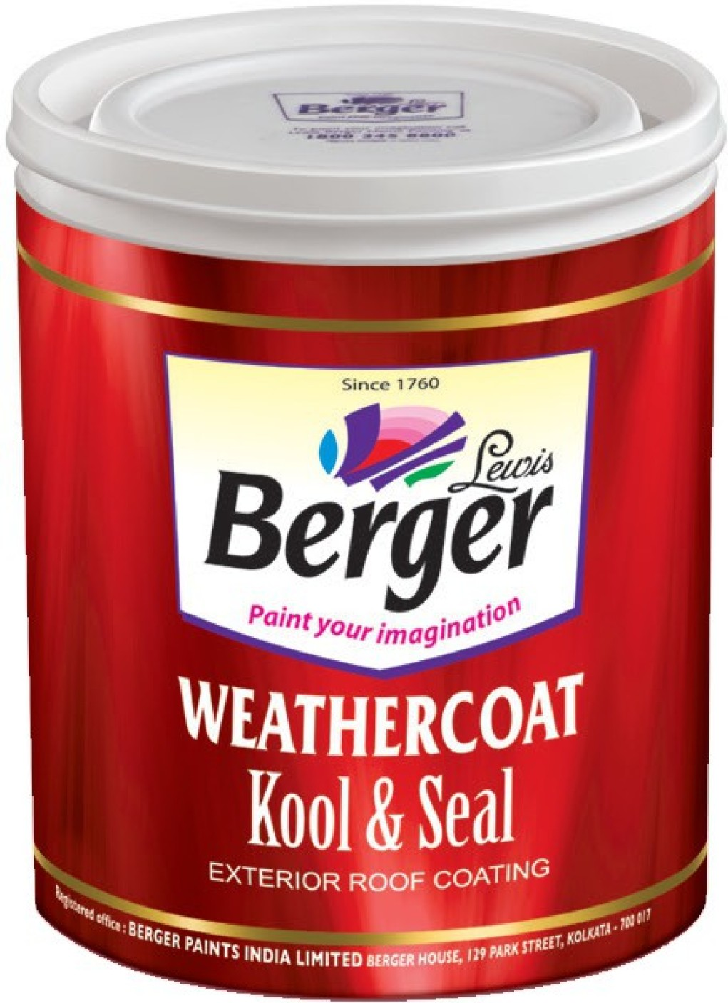 Berger Weathercoat Kool And Seal White Emulsion Wall Paint