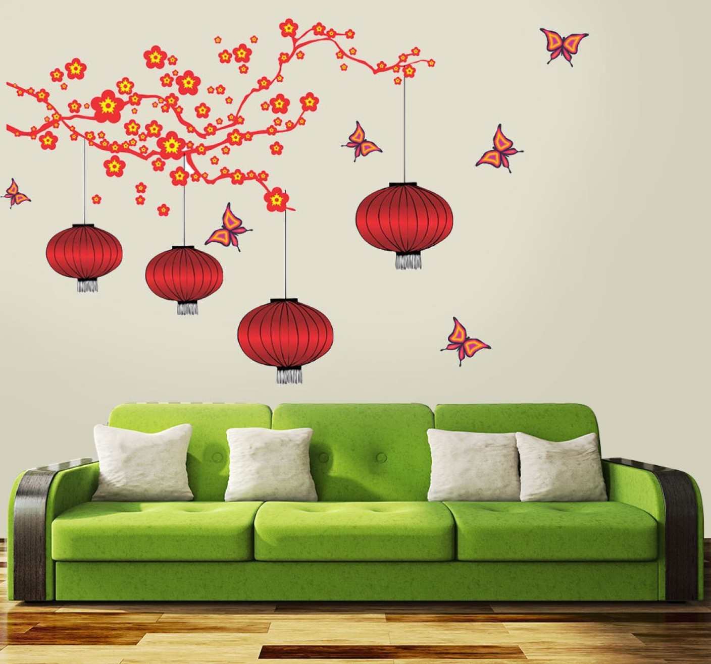 New way decals wall sticker fantasy wallpaper price in for D wall wallpaper