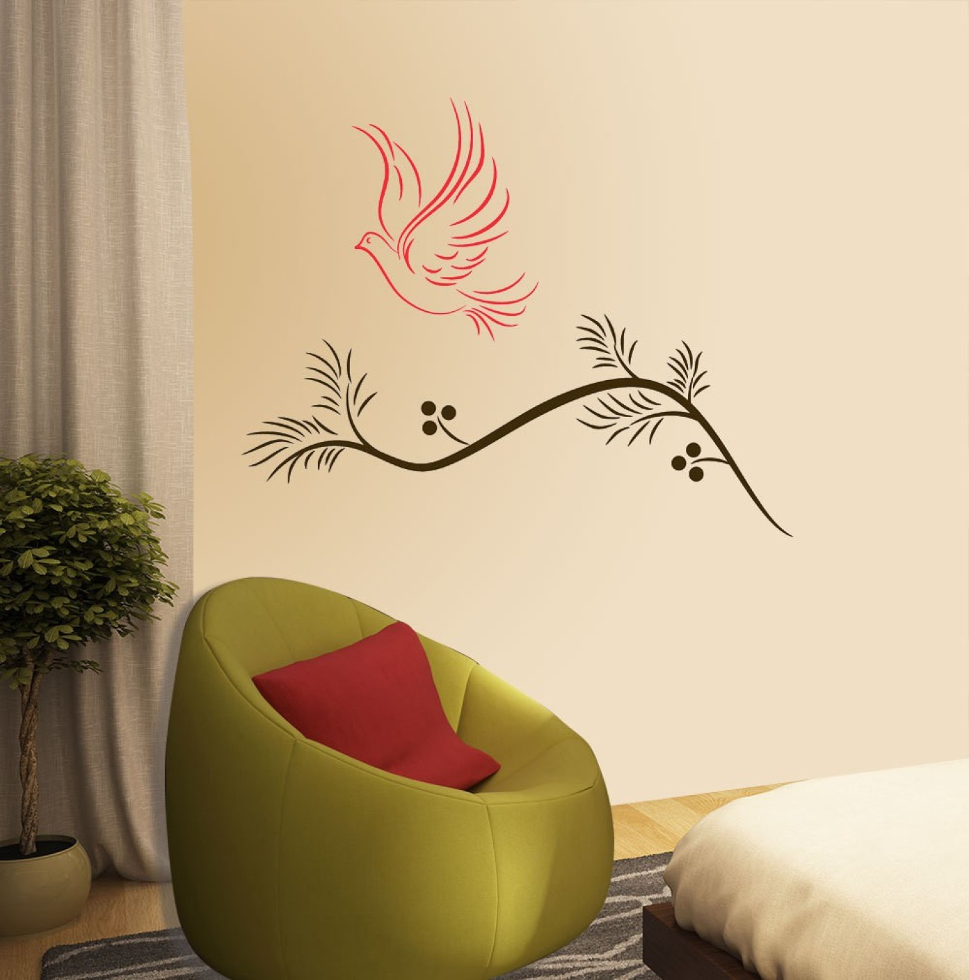 New way decals wall sticker nature wallpaper price in for Wallpaper decals