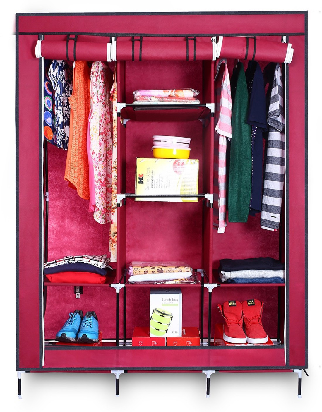 Birdy Micro Fiber Collapsible Wardrobe Price In India