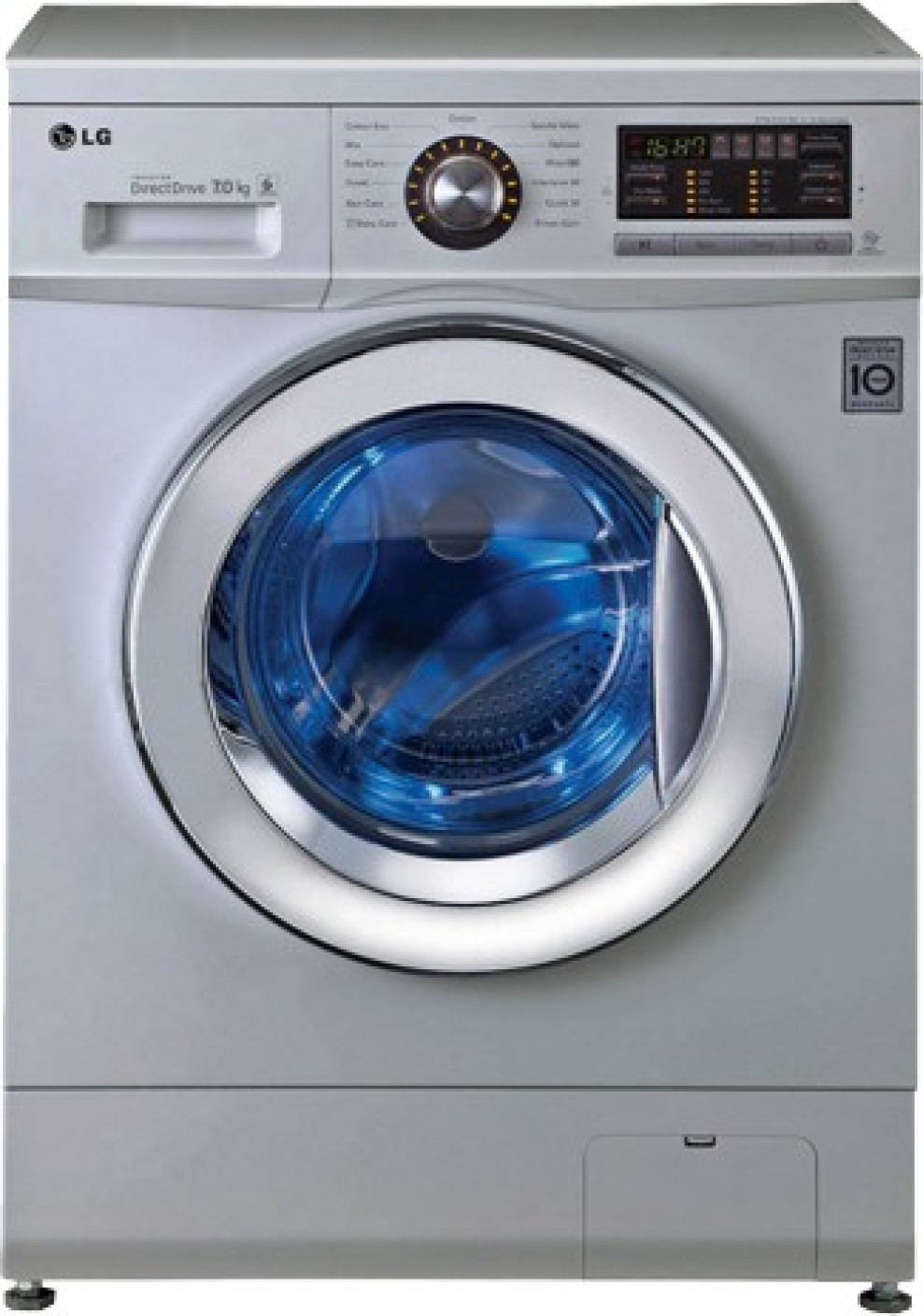 LG 7 kg Fully Automatic Front Load Washing Machine Silver ...