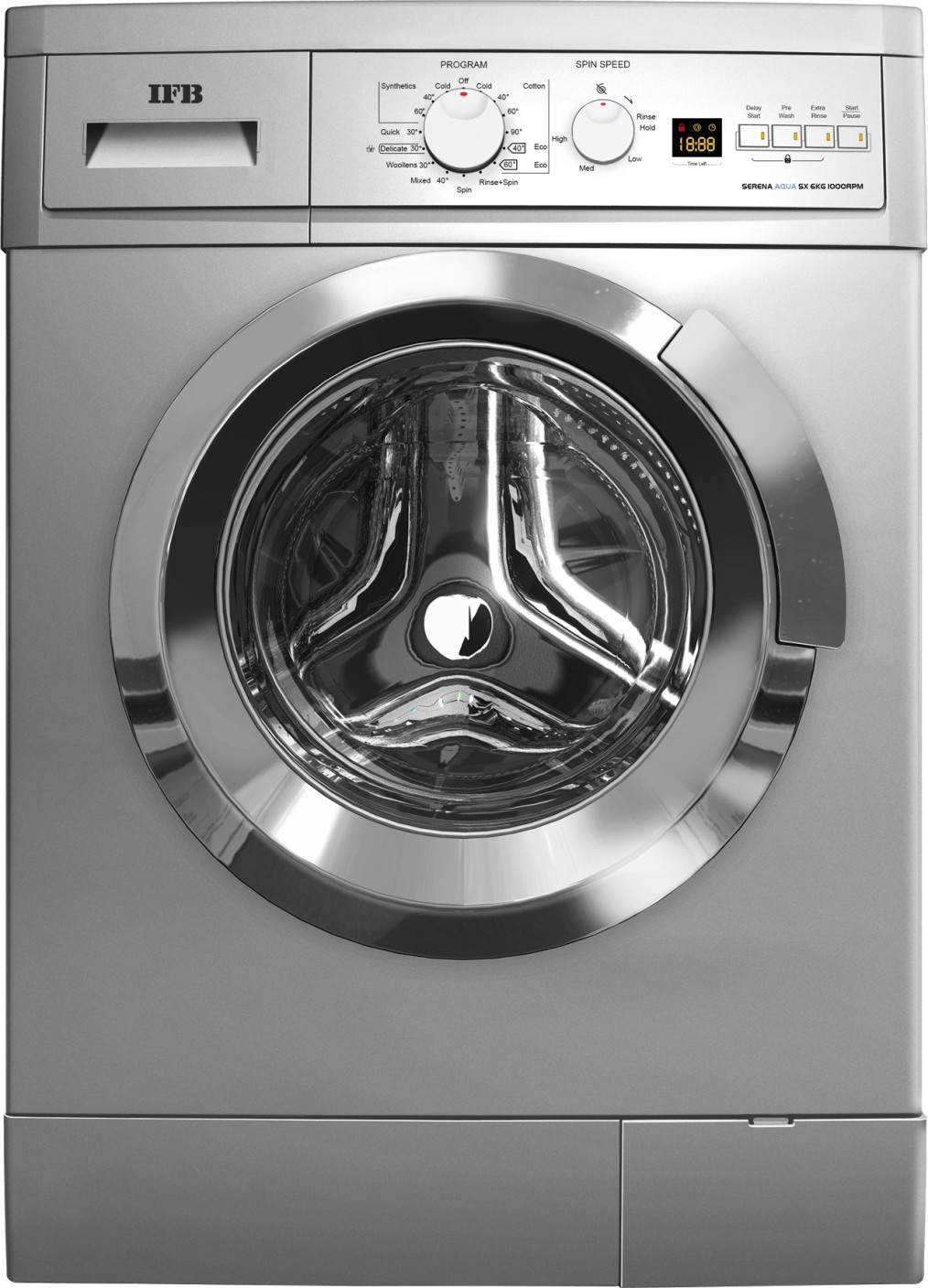 IFB 6 kg Fully Automatic Front Load Washing Machine Silver ...