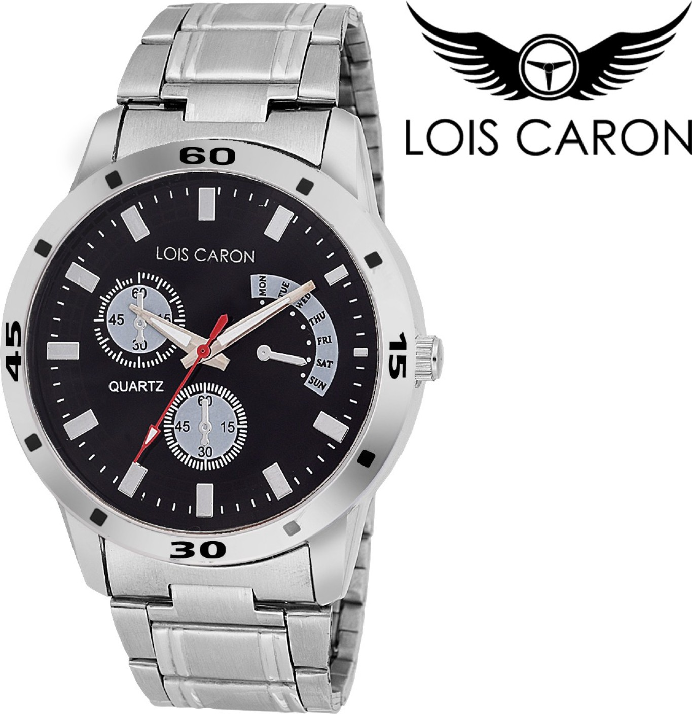 mens watches store online buy mens watches products online at lois caron lcs 4048 chronograph pattern analog watch for men