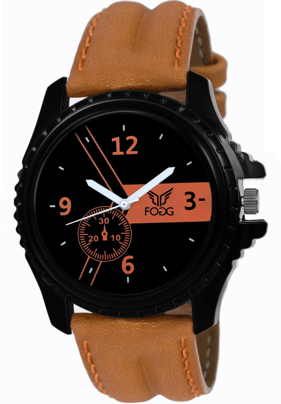 Fogg 1083 br ck with new tag price modish watch for men for 1083 3