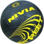 nivia street football football - size: 5(pack of 1, black)