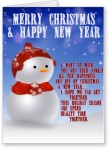 lolprint christmas and new year greeting card(multicolor, pack of 1)