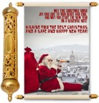 lolprint christmas & new year gold scroll greeting card(multicolor, pack of 1)