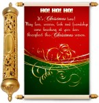 lolprint christmas season gold scroll greeting card(multicolor, pack of 1)