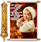 lolprint christmas season gold scroll greeting card(multicolor, pack of 1)
