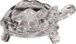 art n hub tortoise/turtle vastu figurine fengshui home décor gift statue decorative showpiece  -  4 cm(crystal, white)