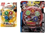 shop & shoppee 5d system battle blade metal fighter fury & clash tornado speed stadium beyblade ( 2 pcs)(multicolor)
