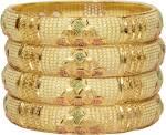 Mansiyaorange Alloy Gold-plated Bangle Set