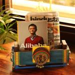 ExclusiveLane Dhokra Art Home Decorative Newspaper Organiser Stand Cum Table Top Magazine Holder