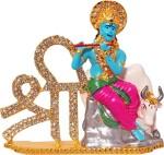 art n hub lord krishna makhan chor shri krishan with cow idol god statue decorative showpiece  -  8 cm(brass, pink)