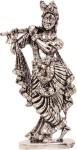 art n hub lord krishna makhan chor shri krishan idol god statue gift item decorative showpiece  -  8 cm(brass, silver)