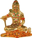 art n hub lord shiva / shiv shankar god idol home décor pooja statue gift decorative showpiece  -  8 cm(brass, multicolor)